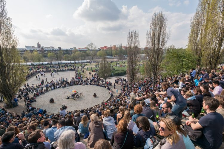 Our travel writing courses took us to Mauerpark