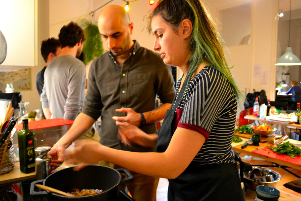Language and cooking classes for our travel writing interns