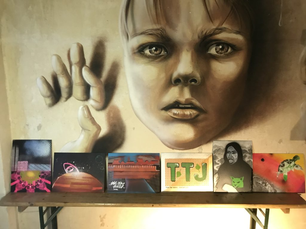 Our artwork gallery at the street art workshop