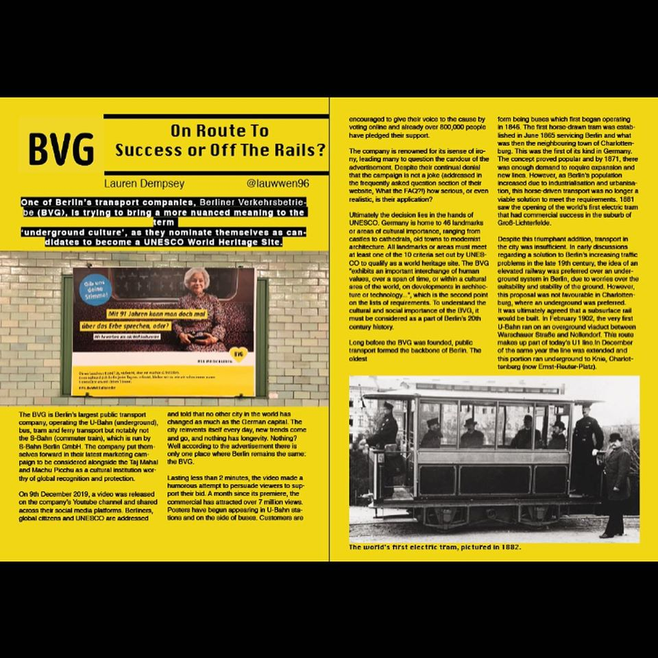 Our January 2020 BVG article